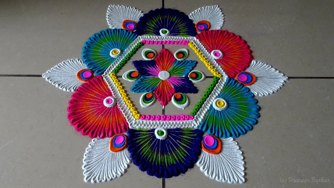 Easy, creative and quick rangoli for festivals | Relaxing sand art