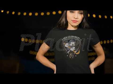26cae50326e Hockey Mickey Mouse Vegas Golden Knights Shirts - YouTube