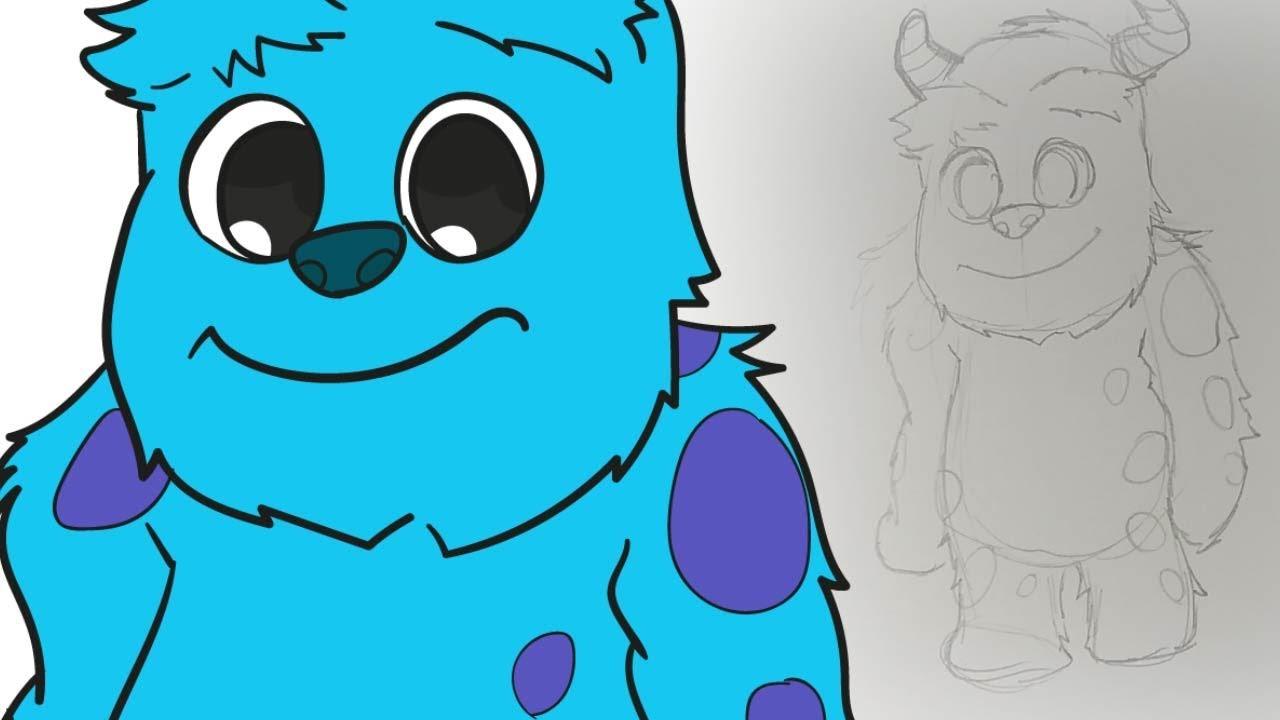 Cómo Dibujar A Sullivan Ii Chibi Monsters Inc Youtube