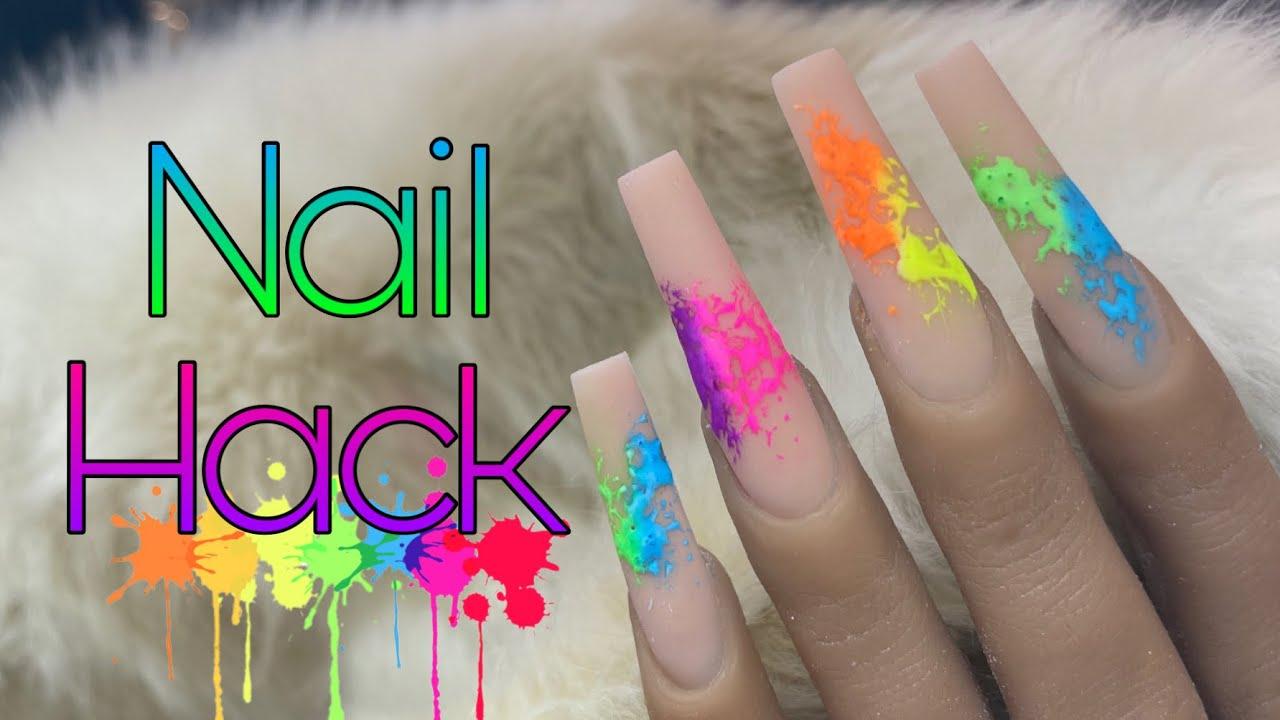 Download Easy Nail Art Hack   Summer Rainbow Splatter Nails   Beginner Nail Tutorial   Pride Nails