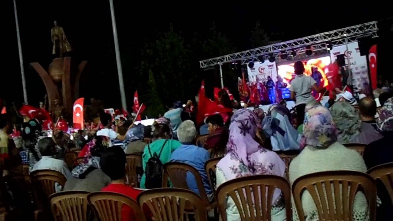 15 Temmuz Şehitlerini Anma Programı Banaz Kültür Parkta Yapıldı