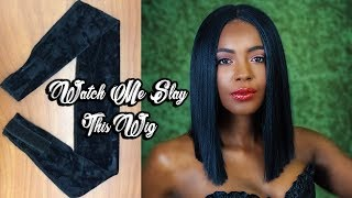 Save Your Edges! The Best Cheap $7 Wig Grip & Synthetic Blunt Cut Bob (Demo & Review)