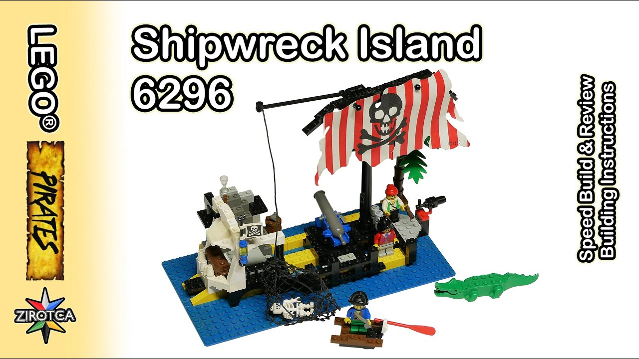 Lego 6296 Shipwreck Island Set Review And Speed Build Original Building Instructions Pirates Youtube