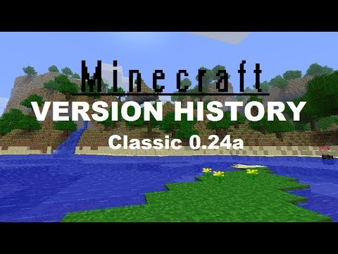 Minecraft Version History Classic 0 24 Survival Test Youtube