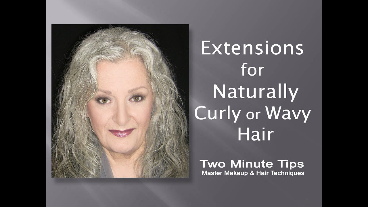 Extensions For Natural Curly Or Wavy Gray Hair D Youtube