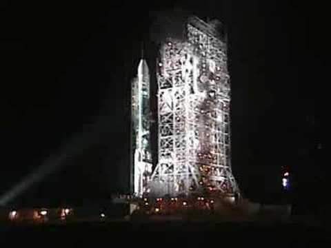 Delta Rocket Launch Tower Rollback Before Launch