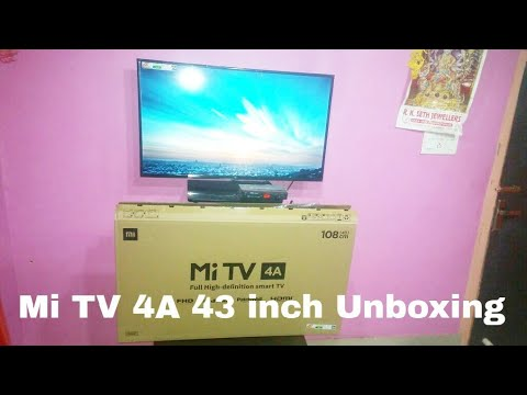 Mi Tv 4a 43 Inch 108cm Led Smart Tv Unboxing Youtube
