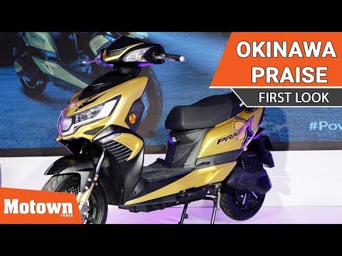 Launch of Okinawa electric scooter Praise in New Delhi