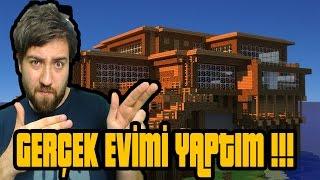 Gerçek Hayattaki Evimi Yaptım !!! - Minecraft Modern Evler