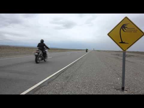 Patagonia & Tierra del Fuego Motorcycle Tour: Day 7 - Ruta 40 riding on a windy day on asphalt