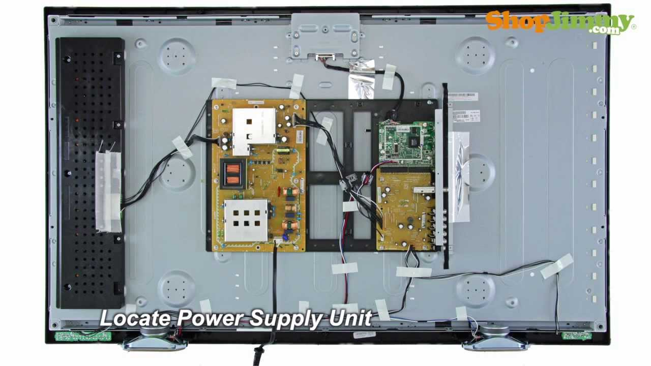 No Power on Sanyo TV Model DP42 DP46  Power Supply Replacement  YouTube