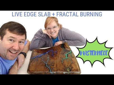 Fractal Burn Resin Art Piece - DIY using Epoxy Resin and Lichtenberg Wood Burning