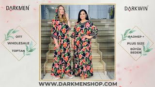 04 06 2021 1 часть Показ женской одежды больших размеров DARKWIN от DARKMEN Турция Стамбул Опт