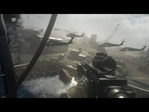 US Marine Corps in Epic Landing Operation ! Call of Duty MW Remastered