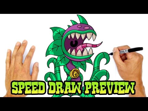 Chompzilla (Plants vs Zombies)_ Speed Draw Preview