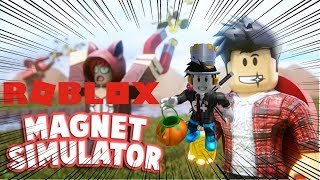 THE MAGNET OF LUCK! * Addictive game *-Roblox Magnet Simulator