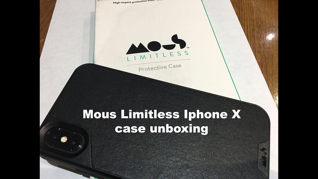 online retailer b2e8c 0131f Mous iphone x case black leather unboxing