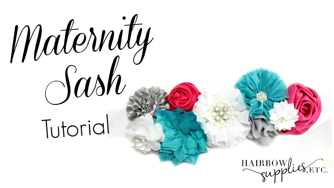 Diy Maternity Sash Tutorial How To Make A Maternity Sash Hairbow
