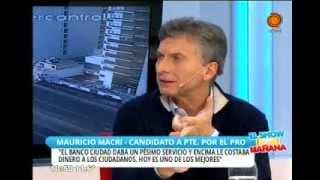 Entrevista a Mauricio Macri y Oscar Aguad, parte2. 25 de junio. El Show de la Mañana. Canal 12