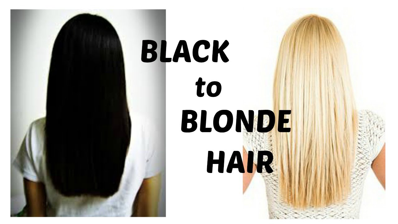 How To Bleach Black Hair Blonde YouTube