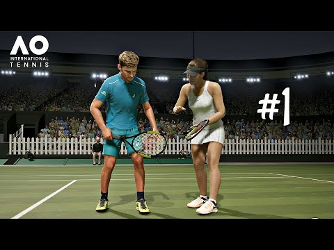 AO International Tennis Career Mode Episode 1 - FIRST MATCH | PS4 Pro Gameplay