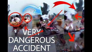 Very Dangerous accident..3 bikes crashed with 1 bike..|wow tub|--😢