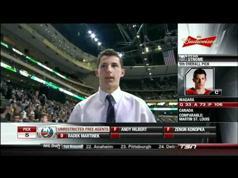 Ryan Strome gets picked 5th overall by NY Islanders