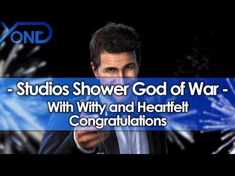 Studios All Over Shower God of War with Witty & Heartfelt Congratulations