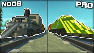 NOOB vs PRO Train Racing Challenge! (Scrap Mechanic Gameplay)