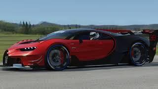 Bugatti Vision GT vs Supercars at Highlands