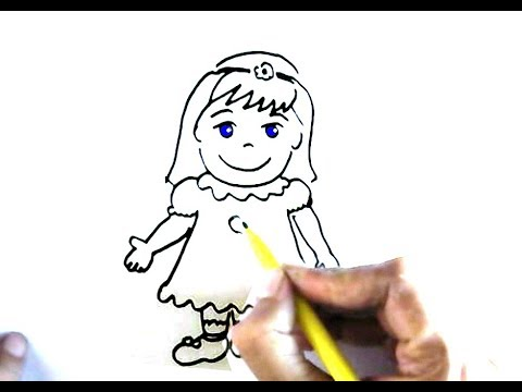 How To Draw A Little Girl In Easy Steps Step By Step For Children