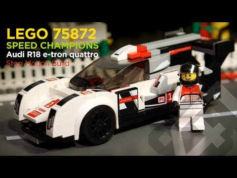 LEGO Speed Champions 75872 - Audi R18 e-tron Quattro (2016) - Stop Motion Build