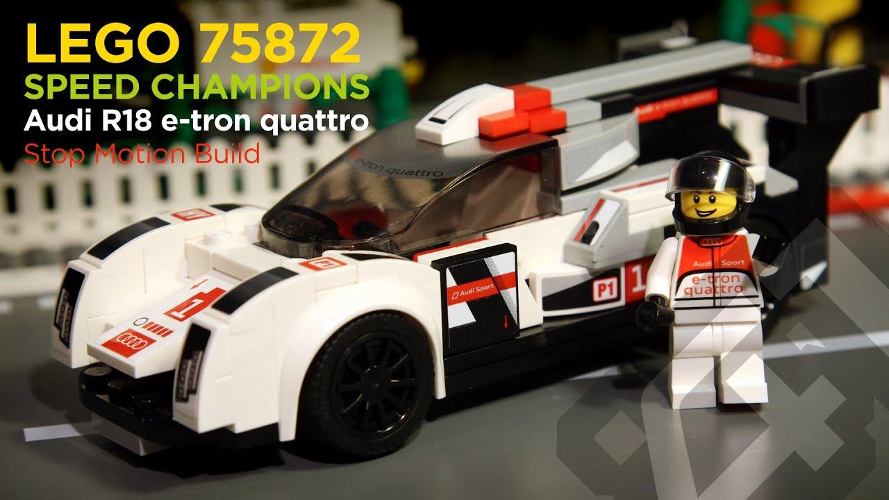 lego speed champions 75872 - audi r18 e-tron quattro (2016) - stop