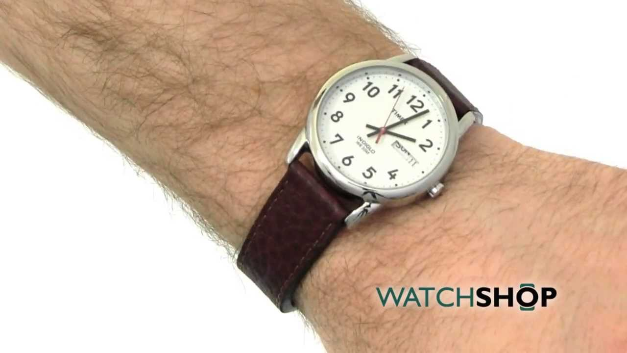 Men S Timex Indiglo Easy Reader Watch T20041 Youtube