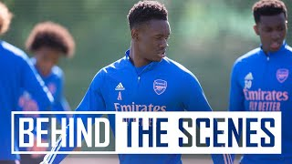 Balogun, Martinelli, & Nketiah with some top finishes | Behind the scenes at Arsenal training centre