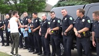 18 of His Late Dad's Fellow Officers Surprise Teen at Party