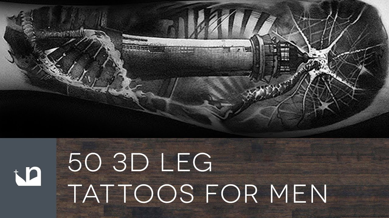 50 3D Leg Tattoo Designs For Men – Manly Ink Ideas