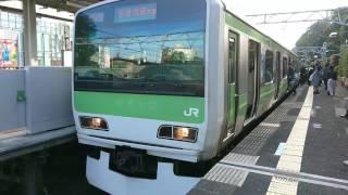 【JR】山手線 原宿駅3番線 到着~出発