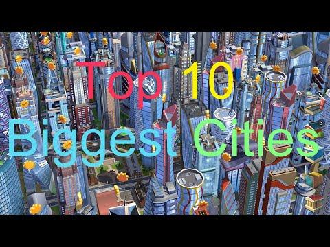 Top 10 Biggest Cities Simcity Buildit