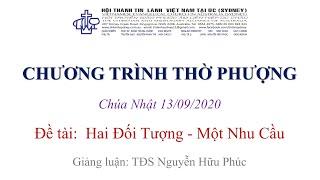 HTTL KINGSGROVE (Úc Châu) - Chương trình thờ phượng Chúa - 13/09/2020