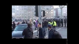 Demo in Frankfurt 18.03.2015 part1 EZB Eröffnungsfeier(otwarcie europejskiego banku)