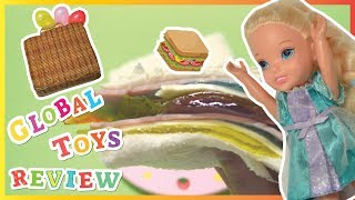 Barbie Picnic  Wooden Food Playset Jelly Slime Putty Clay Sandwich Making  Global Toys Review