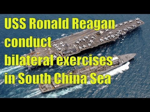 USS Ronald Reagan JMSDF conduct bilateral exercises in South China Sea