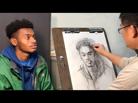 Key Steps for Start Drawing a Live Portrait with Charcoal