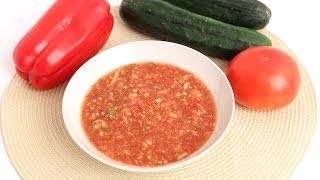 Homemade Gazpacho Recipe - Laura Vitale - Laura in the Kitchen Episode 777