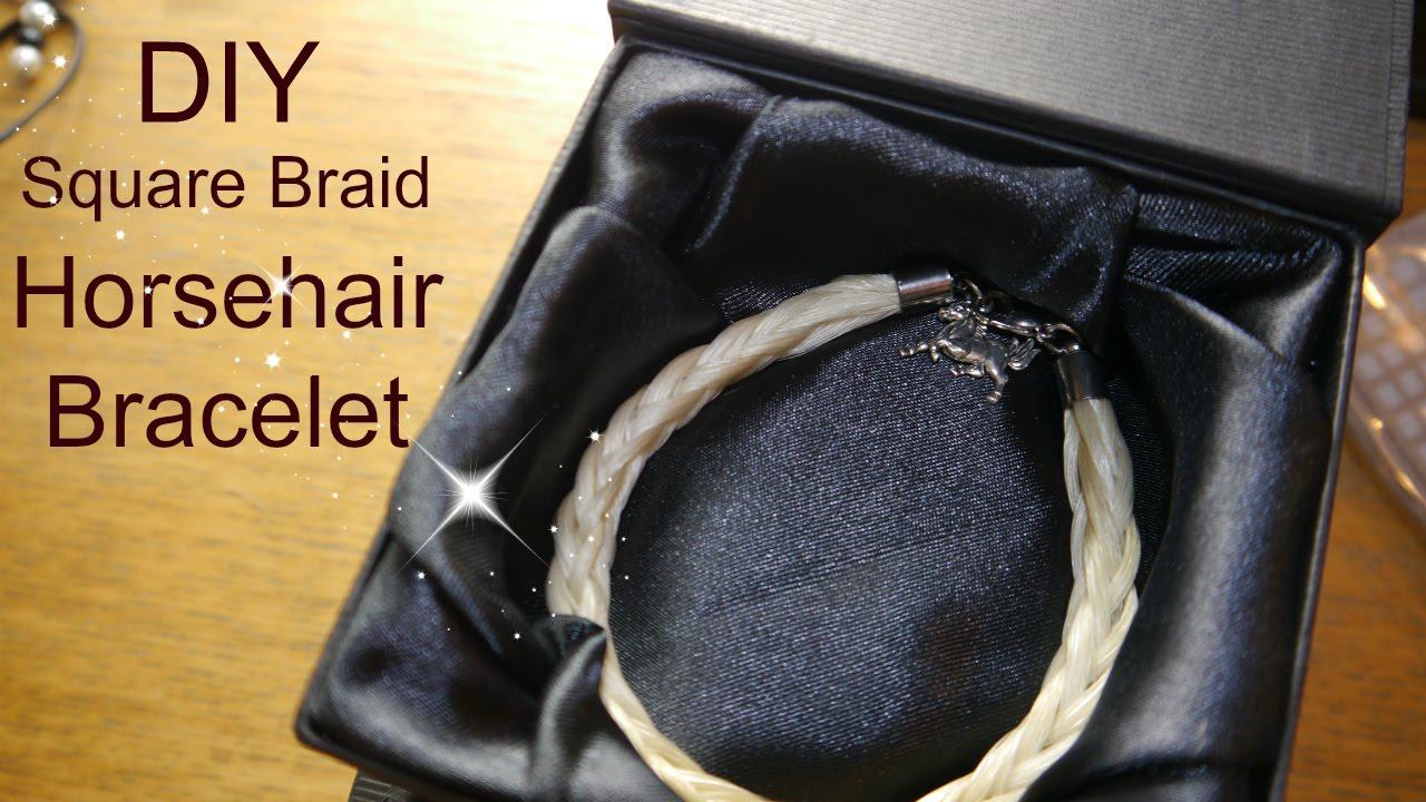 Diy horsehair bracelet tutorial square braid youtube diy horsehair bracelet tutorial square braid solutioingenieria Image collections