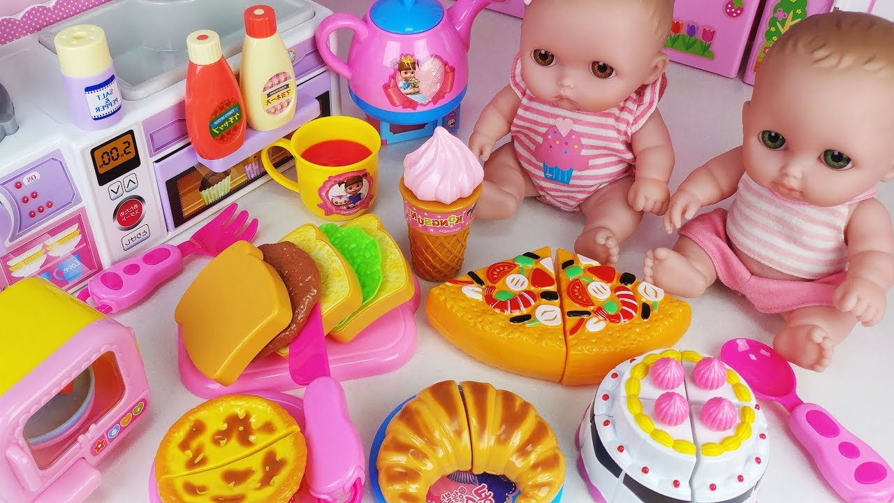 Baby Doll Food Cooking And Play Doh Kitchen Toys House