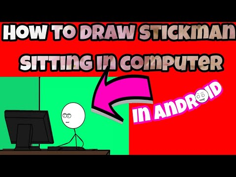 How To Draw Stickman Sitting In Computer Youtube