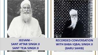 Jeevani Sant Attar Singh & Sant Teja Singh by Baba Iqbal Singh