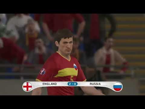 PES 2016 UEFA Euro 2016 England Vs Russia 2-0 Gameplay PS4 HD